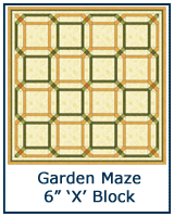 Garden Maze quilt block tutorial