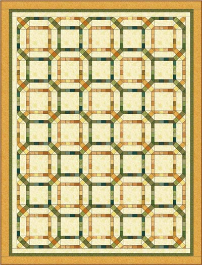 Final draft of the Garden Maze quilt pattern