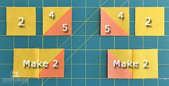Stitching corner units