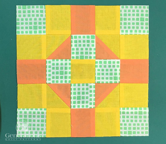 Georgia patchwork block, front
