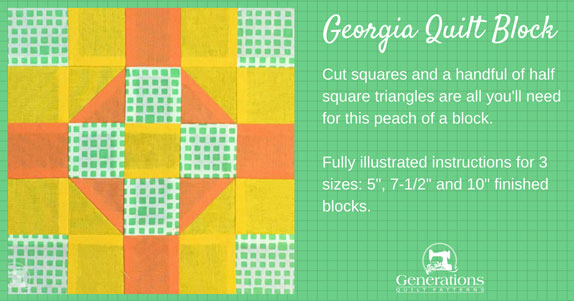 The Georgia quilt block tutorial starts here.