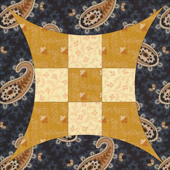 Q: What is this quilt block's name?... A: Glorified Nine Patch : curved quilt blocks - Adamdwight.com