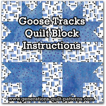 Goose Tracks quilt block instructions