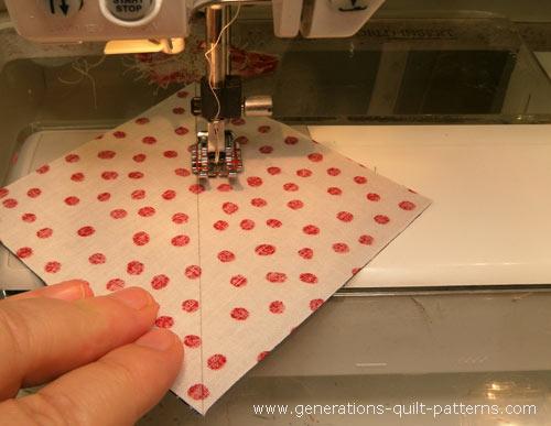 Stitch the half square triangles