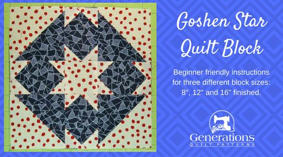 Goshen Star quilt block tutorial