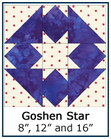 Goshen Star quilt block tutorial