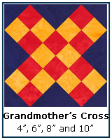 grandmother's Cross quilt block tutorial