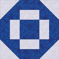 Greek Cross quilt block design