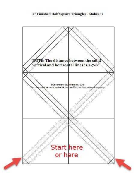 Free Half Square Triangle Paper To Download Lesson 6