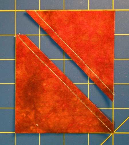 Cut into two half square triangles