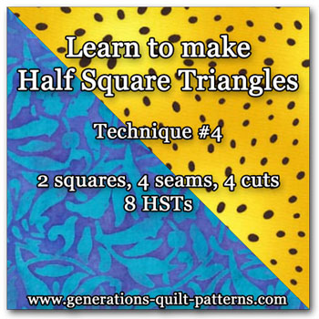 Make 8 half square triangles at a time!