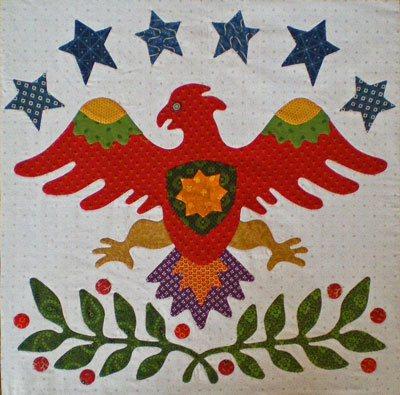 Eagle quilt block