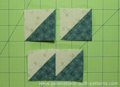Sew the HSTs into 8 pairs