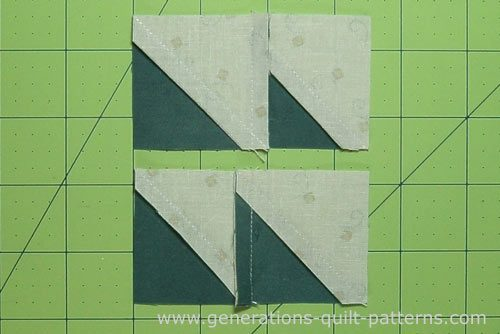 Sew the pairs together, nesting the seam allowances