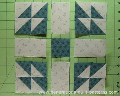Lay out the patches into rows