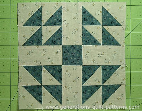 The finished Handy Andy quilt block