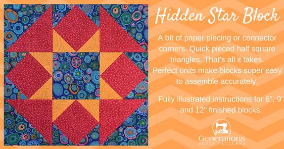 Hidden Star quilt block tutorial