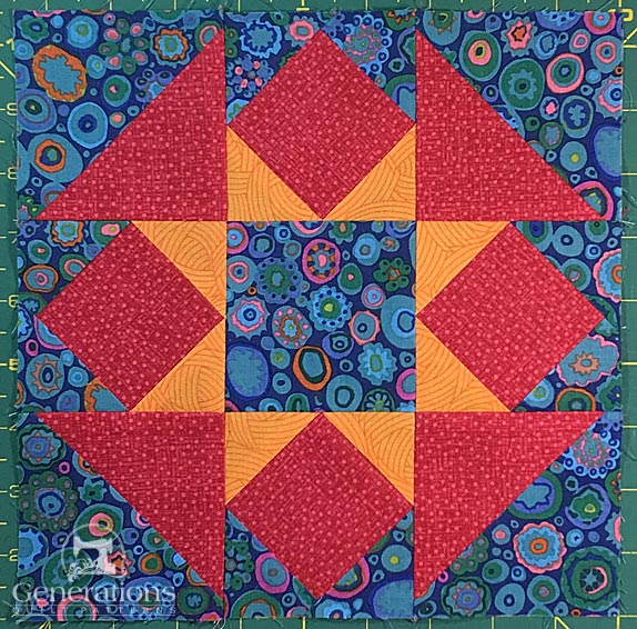 The Hidden Star quilt block