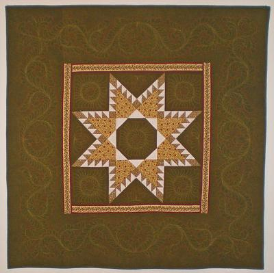 Holiday Feathered Star Quilt by Trudy Wasson