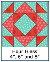 Hour Glass quilt block tutorial