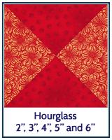 Hourglass quilt block tutorial