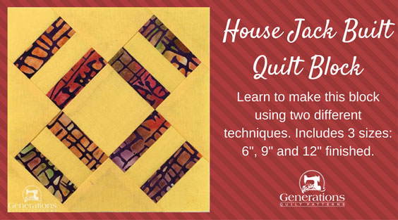 The House Jack Built quilt block tutorial begins here