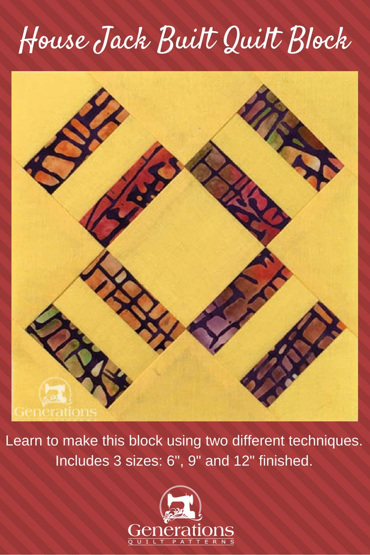 House Jack Built quilt block tutorial