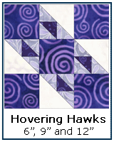 Hovering Hawks quilt block tutorial