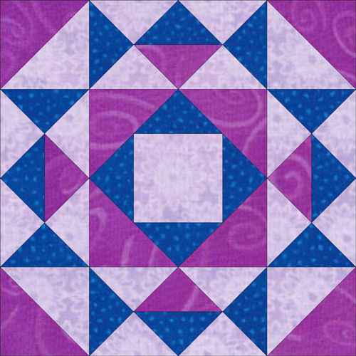 Illinois Corn and Beans quilt block design