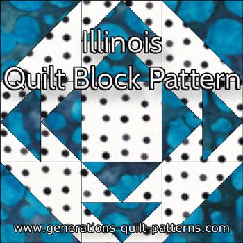 The Illinois quilt block tutorial begins here...