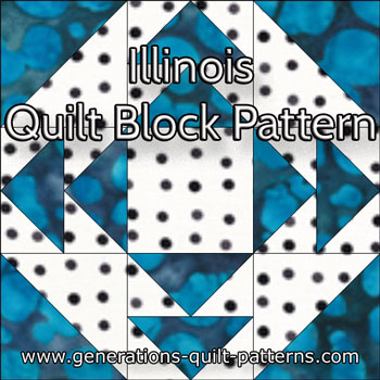 The Illinois quilt block tutorial begins here...