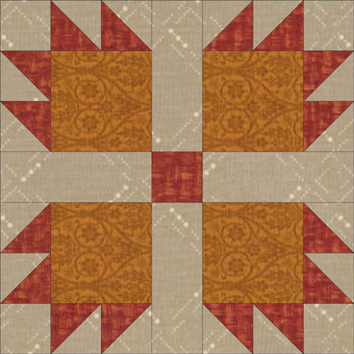 Illinois Turkey Track quilt block design