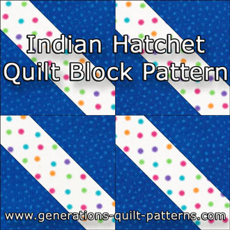 The Indian Hatchet quilt block tutorial starts here...