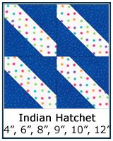 Indian Hatchet quilt block tutorial