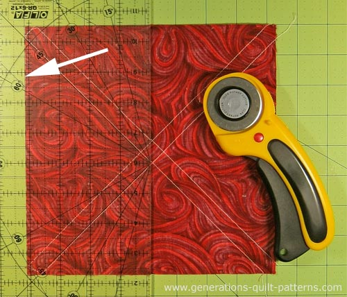 The #3/#4 sewn patch is cut into squares