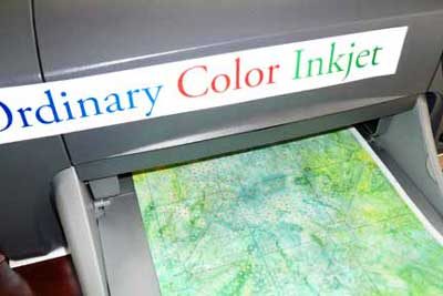 Use an ordinary color inkjet printer