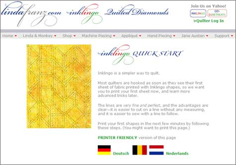 The Inklingo Quick Start Page