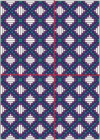 Triple Irish Chain quilt with alternate block