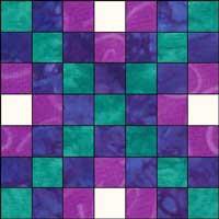 Irish Chain quilt Block 1