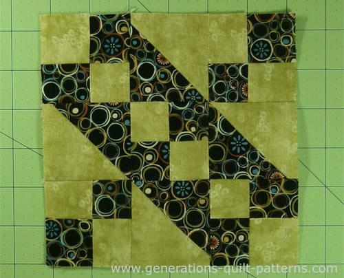 Your finished Jacob's Ladder quilt block