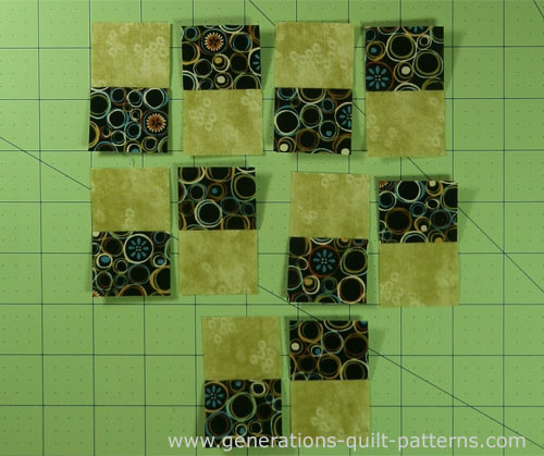 Lay out the segments for the four patch units
