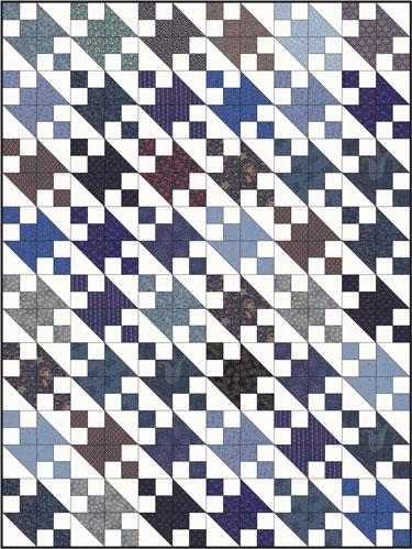 Jacob's Ladder quilt using a 2x2 grid block