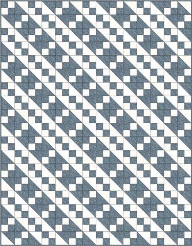 Jacob's Ladder quilt design, 2 block variation