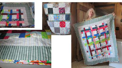 Jelly Roll Weave Lap or Baby Quilt