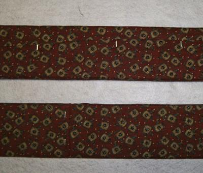 I used a staple gun to attach the fabric...you can see the staples.<br /><br />Click the thumbnail for a larger image.<br />