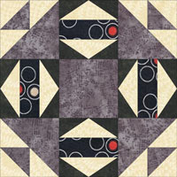 Joseph's Coat quilt block design