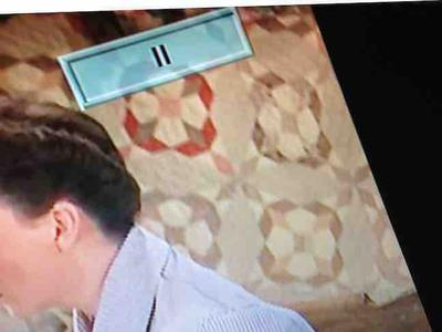 Name of quilt pattern in background. Judy Garland movie Summer Stock.
