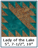 Lady of the Lake quilt block tutorial