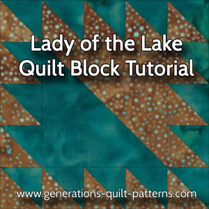 Lady of the Lake Quilt Block: Instructions for 3 sizes : lady of the lake quilts - Adamdwight.com