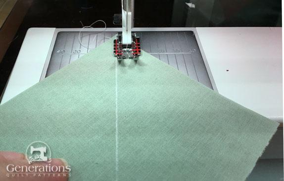 Sew HST seams